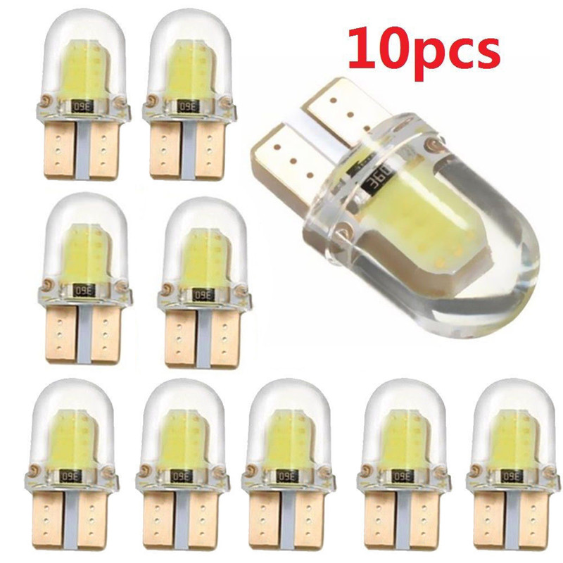 10pcs LED W5W T10 COB Canbus Car Interior Dome Light for Ssangyong Actyon Sport Kyron Rexton 2 Korando Tivoli Musso Reading Lamp(China)