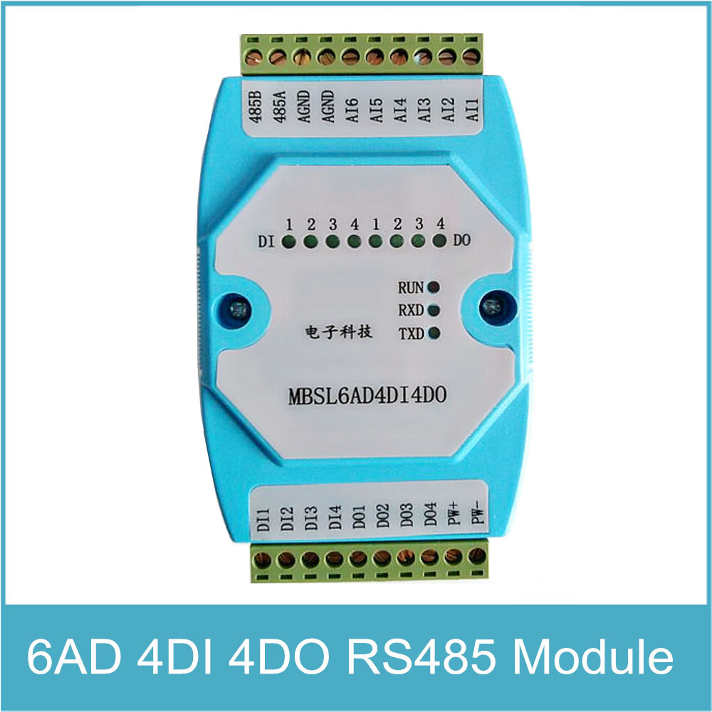 8DI/4RO 8 channels digital input 4 channels Relay Output Remote IO ...