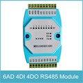 6ad/4di/4do rs485 modbus rtu comunicação ethernet sinal analógico de 6 canais de entrada e saída de sinal digital de 4 canais