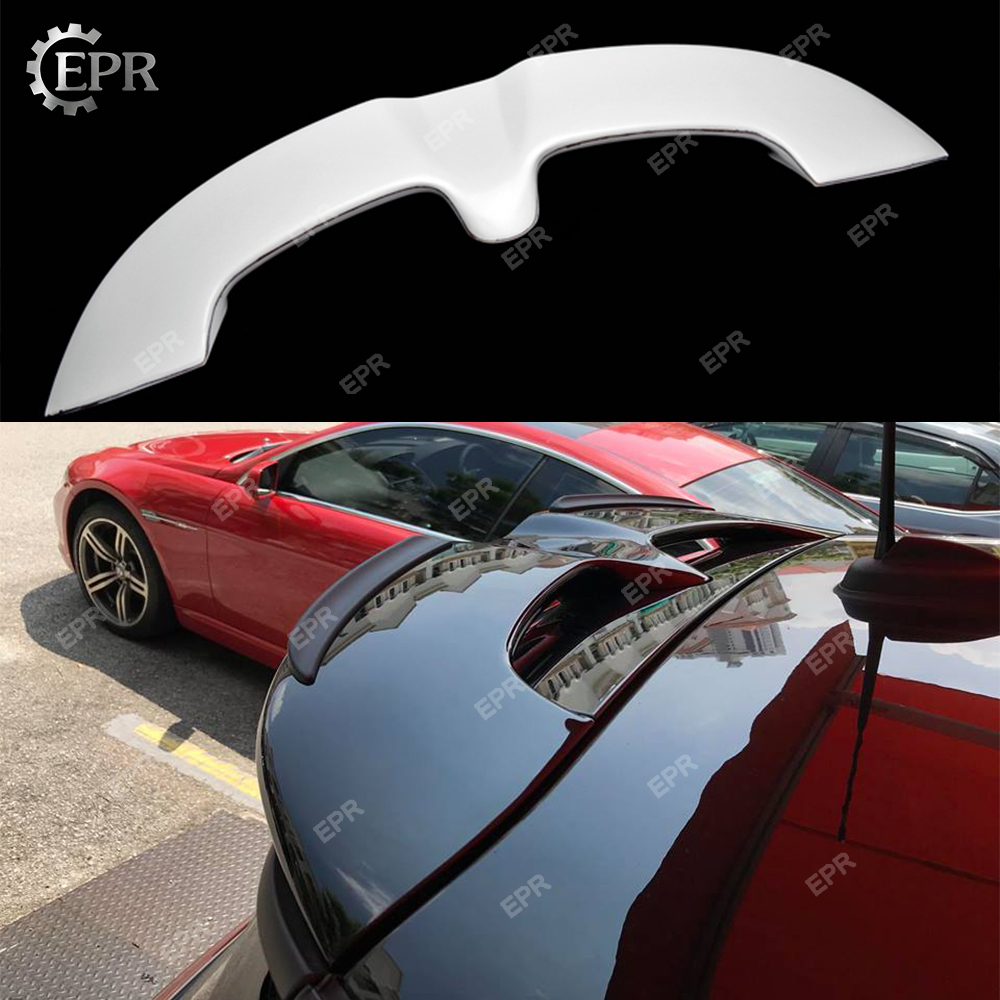 FRP JCW Roof Spoiler For F56 Mini Cooper S Glass Fibre Rear Spoiler Car styling Racing Seagull Roof Wing Lip Body Kit Part