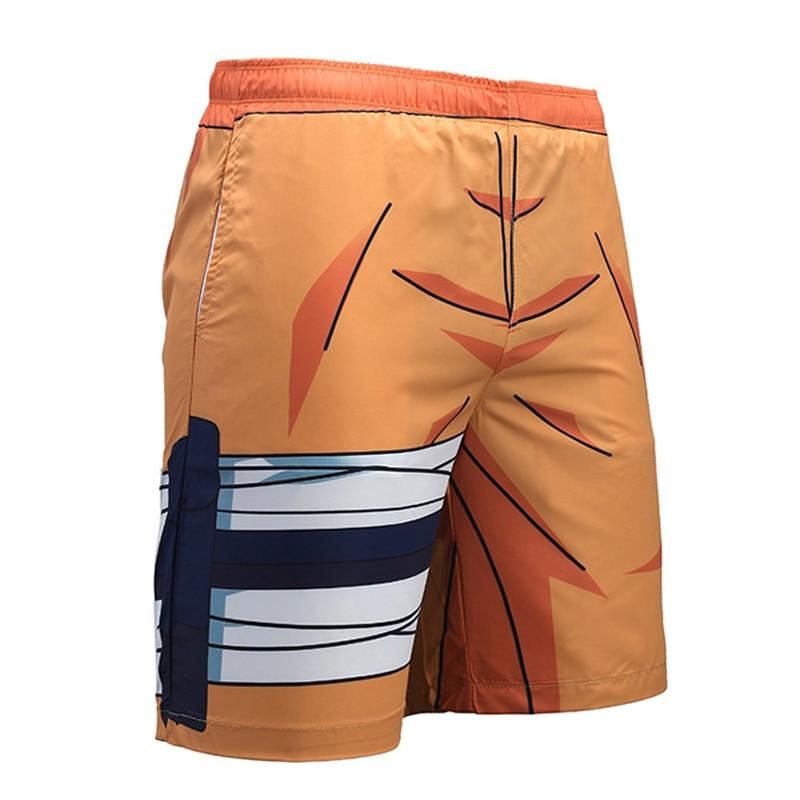 Hipster Cosplay Anime Dragon Ball 3D Print Beach   Shorts   Men Summer Boys Streetwear   Board     Shorts   Casual Loose Swimwear Trousers