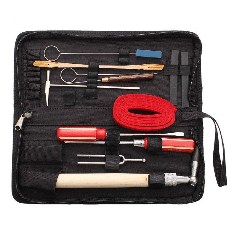 Zèbre 13 pièces/ensemble Kit d'outils de Maintenance de réglage de Piano avec étui pour Piano Instruments de musique pièces accessoires