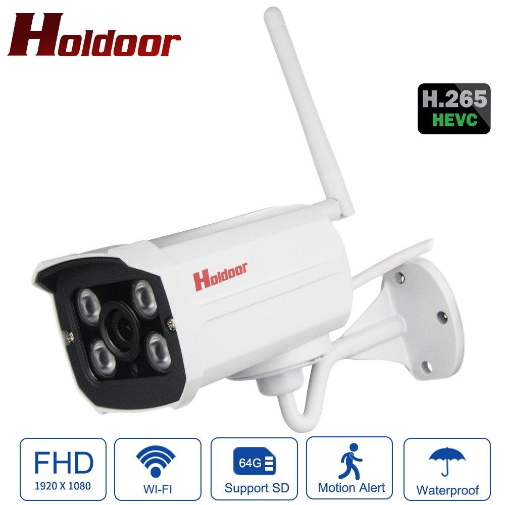 Holdoor H.265 Full HD 1080 P IP caméra IMX307 Starlight WiFi IPC métal détection de mouvement Email alarme vidéo extérieure résistant aux intempéries
