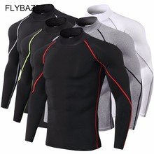 Super Elastic Quick Dry Gym Running T Shirt Men Bodybuilding Sportswear T-shirt Long Sleeve Compression Top Men's Fitness Tight new quick dry running shirt men bodybuilding sport t shirt long sleeve compression top gym t shirt men fitness tight rashgard
