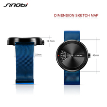 SINOBI Fashion Original Design Men Watch, Simple Business Mesh Steel Creative Wrist Watches
