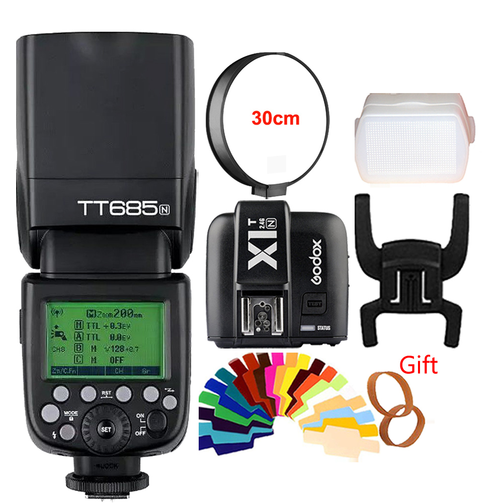 Godox TT685N 2 4G HSS i TTL GN60 Wireless Flash X1T N TTL Trigger for Nikon
