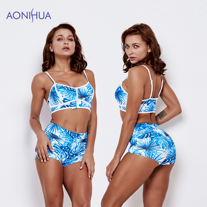 AONIHUA Beach Style Swimming Suit For Women two piece swimsuit Female Wear Bathing Suits Swimwear 2019 New