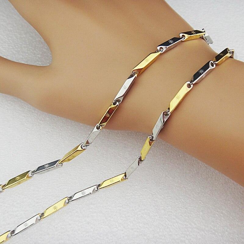 Горячая Распродажа шармы 316L нержавеющая сталь женское мужское ожерелье для костюма модные золотые серебряные ювелирные изделия A-816 - Окраска металла: L