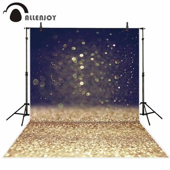 Allenjoy studio photography backgrounds dark bokeh golden Sequin abstract newborn photo backdrops photocall camera photophone image