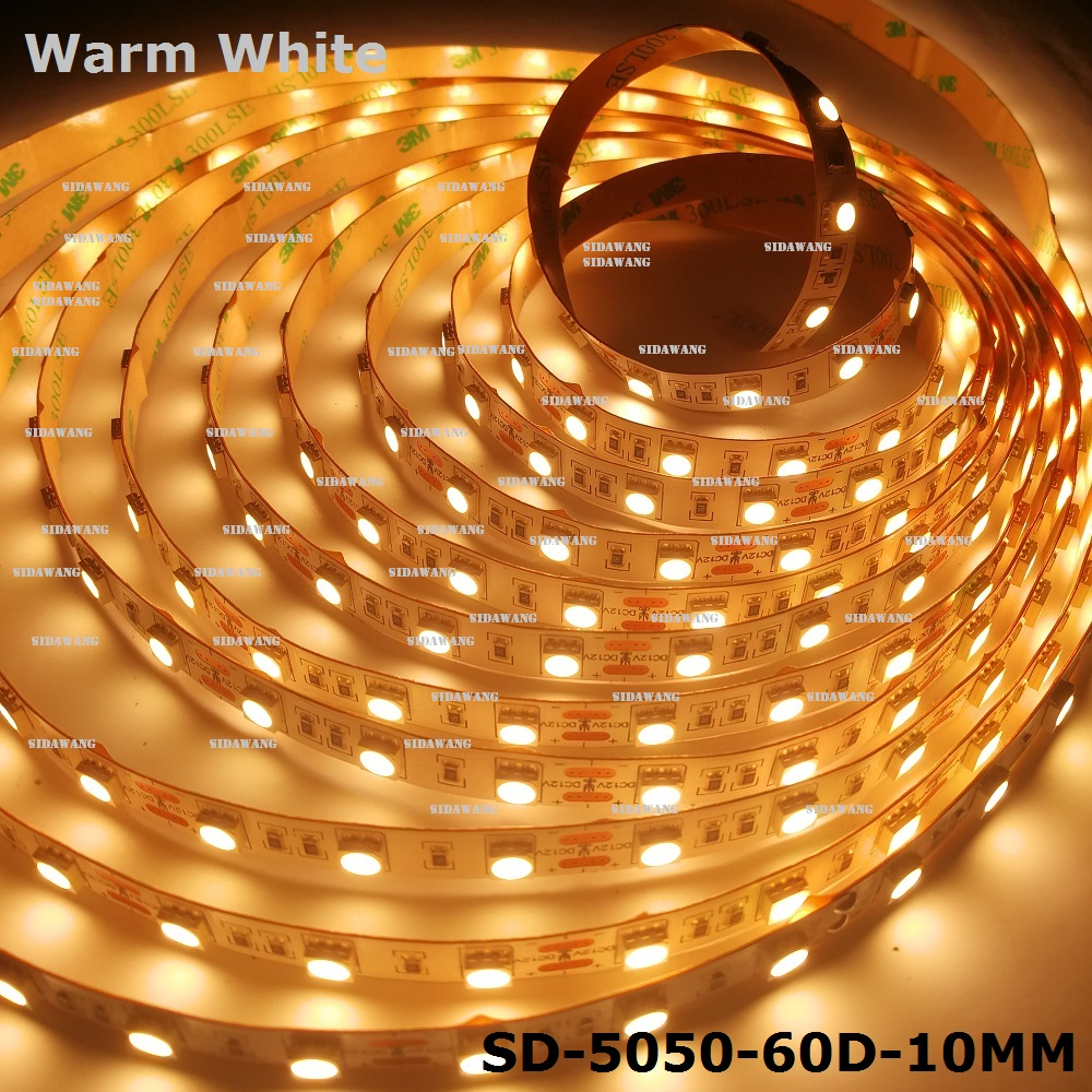 CRI 95 Ra SMD5050 LED strip Super bright Warm white 3000K IP20 300Leds reel 5meters length