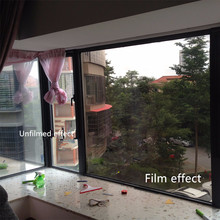 Sunscreen window mirror surface stickers living room balcony sliding door transparent glass paper sunshade insulation