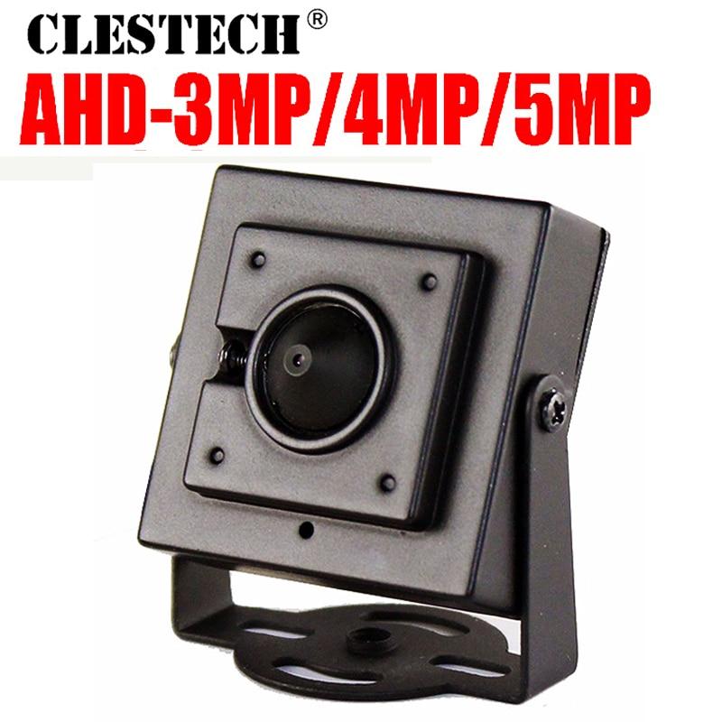 3.7mm Cone Lens HD CCTV AHD Mini Camera 5MP 4MP 3MP 1080P Metal Super little Cam HD ALL FULL Digital Micro Security with bracket