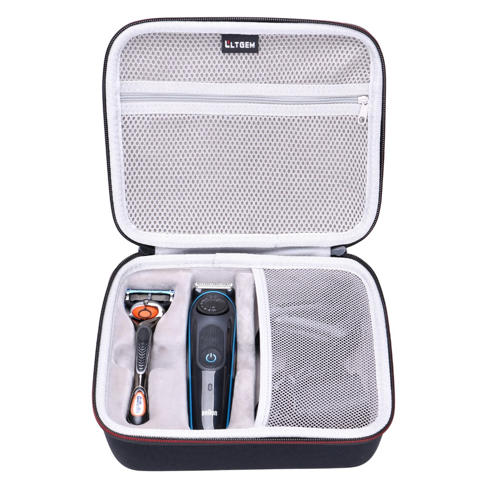 LTGEM EVA Hard Case For Braun BT3040 Men's Ultimate Hair Clipper/Beard Trimmer - Travel Protective Carrying Storage Bag