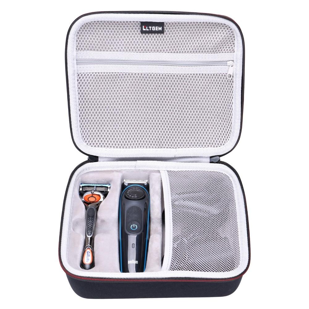LTGEM EVA Hard Case For Braun BT3040 Men's Ultimate Hair Clipper/Beard Trimmer - Travel Protective Carrying Storage Bag
