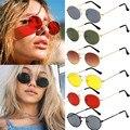 Модная новинка; Женские винтажные Туфли-овальные солнечные очки в ретростиле в форме эллипса, металлическая оправа, очки, модные солнцезащи...