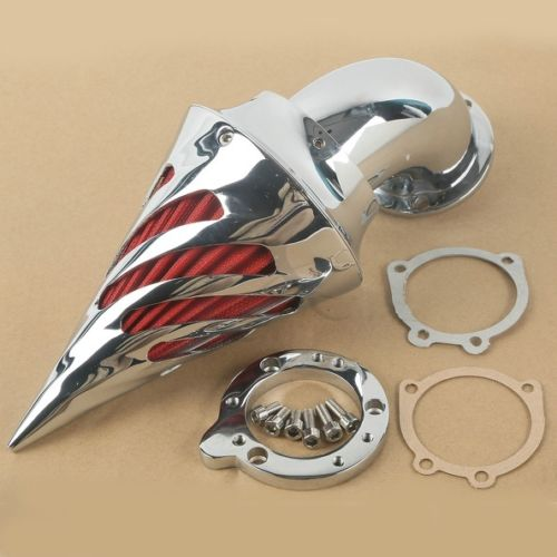 TCMT Motorcycle Brand New Spike Air Cleaner Intake Filter Kit For Harley CV Custom Sportster XL S&S Carburetors chrome aluminum motorcycle kit cone spike air cleaner intake filter case for harley cv carburetor delphi v twin