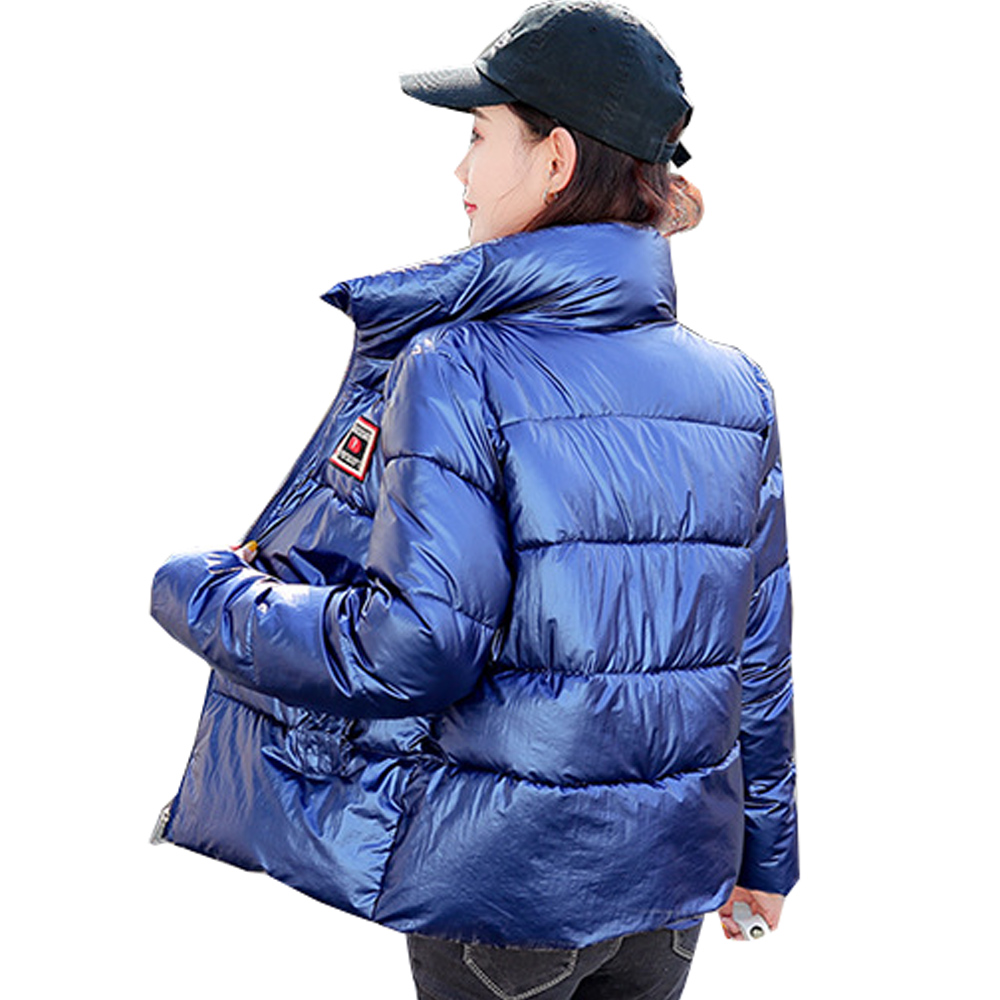 Hot sale 2019 New   Parkas   Female Women Winter The glossy female 2019 new winter coat down padded jacket students bread 865
