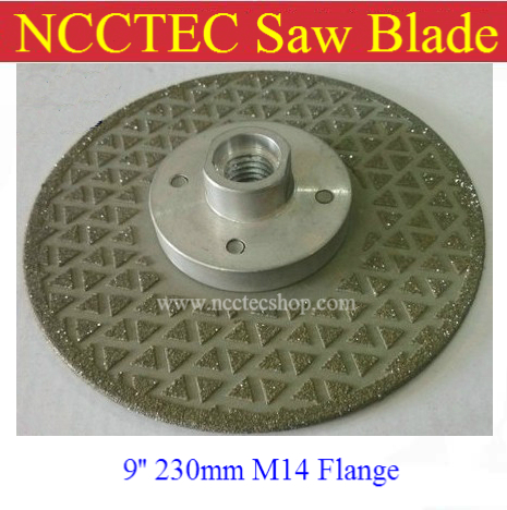 9 2-sided Electroplated Diamond circle saw blade FREE shipping | 230mm cut disc for cutting grinding stone | with M14 flange 10 80 teeth t8a high carbon steel saw blade for expensive wood free shipping nwc108ht12 250mm super thin 1 2mm cut disk