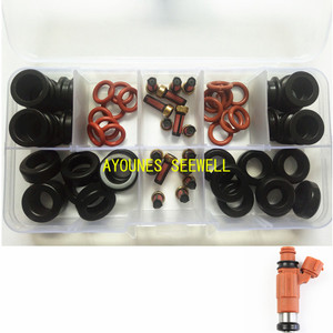 64pieces Fuel injector repair kit Orings filters grommets for yamaha outboard 115HP INP-771 CDH210 cdh275 (AY-RK053-2)(China)