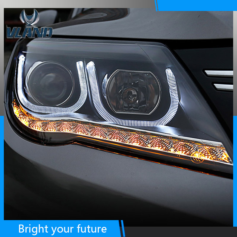 Car Styling Headlamp For Volkswagen Tiguan 2010 2011 2012 Headlight Assembly