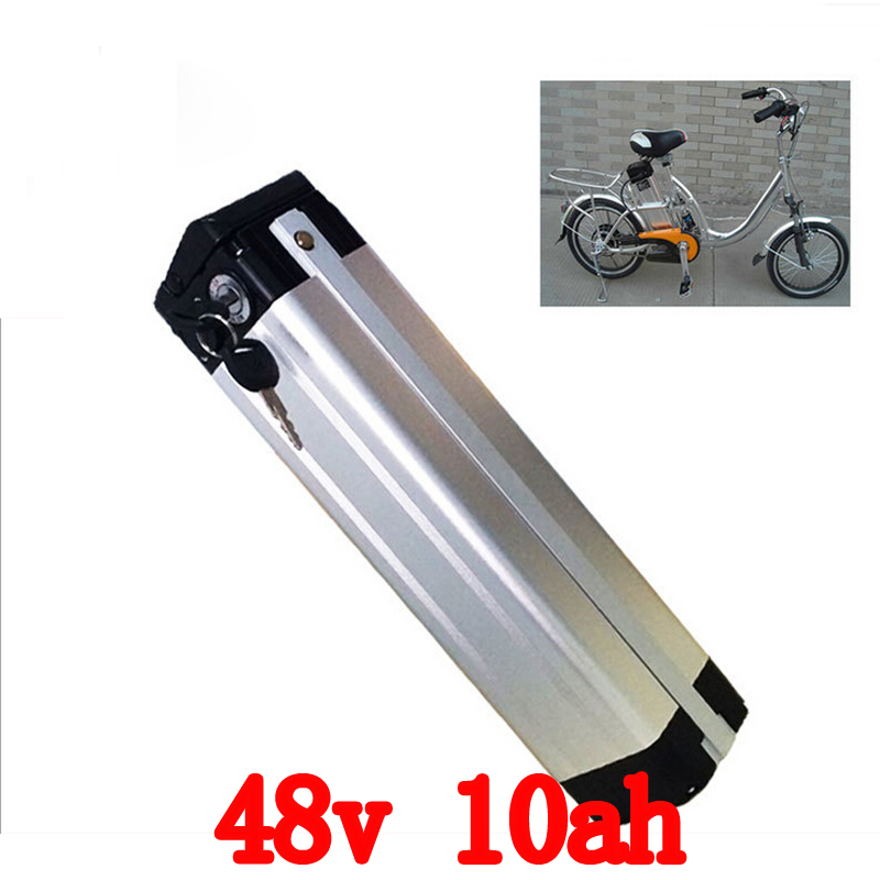 Free customs taxes arrivel 500W 48V 10AH Electric Bicycle lithium battery with PVC case 15A BMS 54.6V 2A charger free customs taxes high quality 48 v li ion battery pack with 2a charger and 20a bms for 48v 15ah 700w lithium battery pack