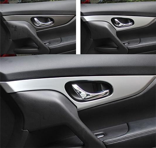 PARA NISSAN QASHQAI J11 2014 2015 2016 ABS CROMO PUERTA INTERIOR - Accesorios de interior de coche