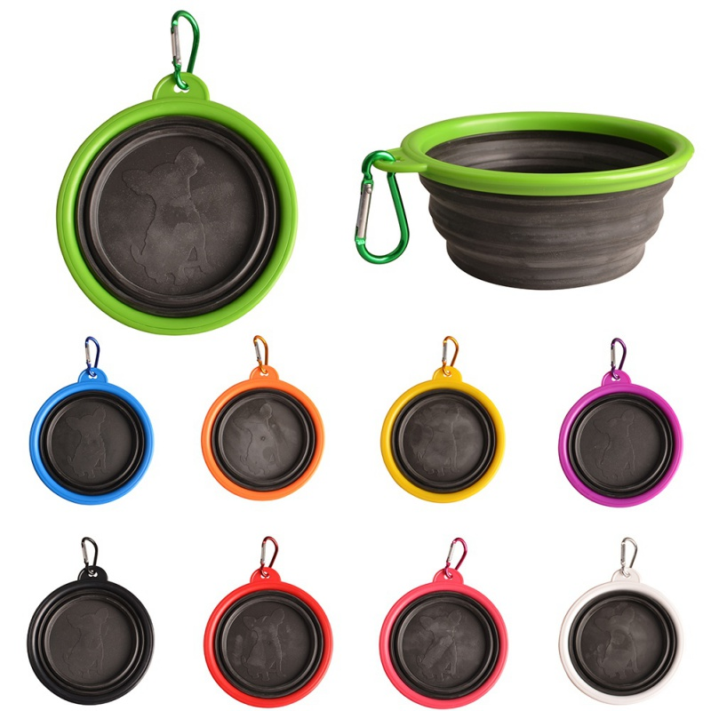 High Quality Portable Outdoor Travel Pet Dog Bowl Silicone Folding Bowls Food Drinking Water Product Dog Bowls #6