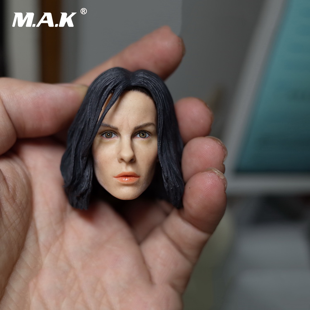 1/6 Scale Kate Beckinsale Head Sculpt with Brown Or  Blue Eyeballs for 12 Inches Female Figures Bodies   Dolls 1 6 scale the game of death bruce lee head sculpt and kungfu clothes for 12 inches figures bodies