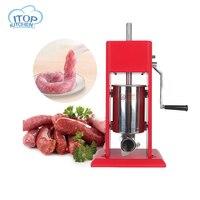 ITOP 3L мясо колбасы шприцы нержавеющая сталь ручной колбаса наполнителя салями чайник машина Кухня Инструменты
