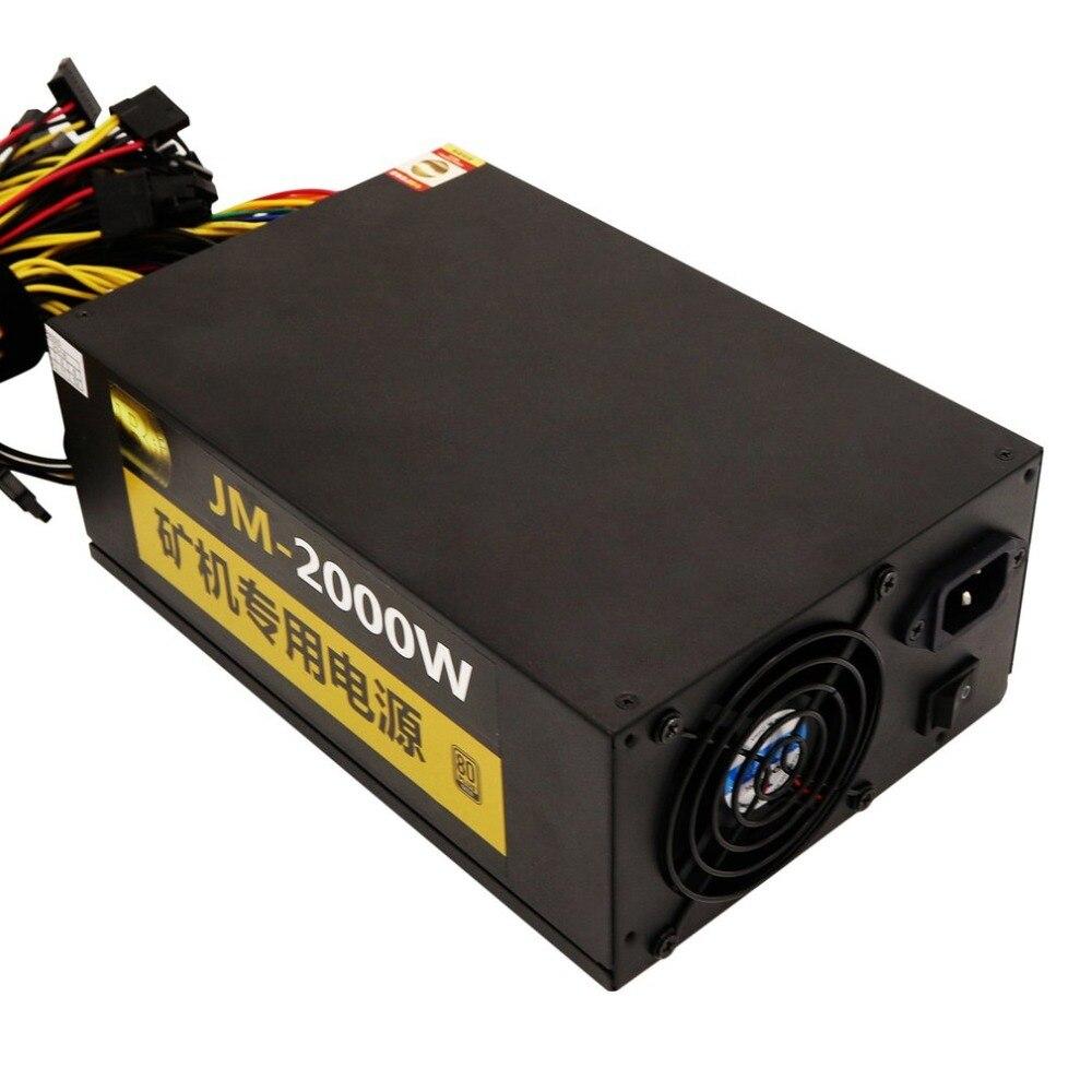 Leshp профессиональный 2000 Вт добыча ATX Питание SATA IDE для 8 GPU Eth btc Эфириума высокое качество компьютера Питание для BTC