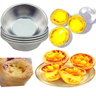6Pcs/set Disposable Aluminum Foil Cups Baking Bake Muffin Cupcake Tin Mold Round Egg Tart Tins Mold Mould Pastry tools