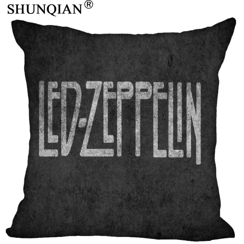 Soft-home Led Zeppelin Logo Cushion Case - Square Pillowcase - 18x18 inches twin sides LU
