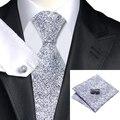 Lazo para hombre Negro Blanco Lazo de La Novedad Para Los Hombres Conjunto Wedding Party Negocios Corbata Hanky Gemelos Set C-1118