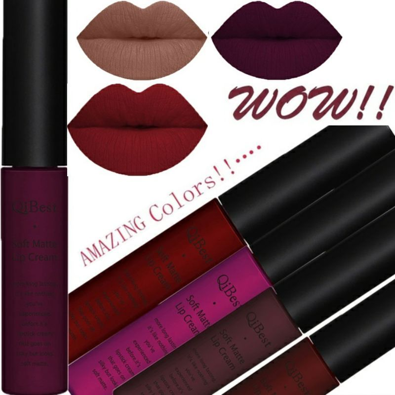 2Pcs/Set 34 Color Matte Long Lasting Lipsticks Sexy Make Lip-gloss Professional Makeup Kits for Women Liquid Lipstick Matte Set
