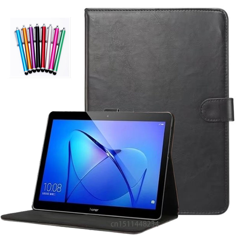 high quality leather Case For Huawei MediaPad T3 10 Tablet Stand Cases For 9.6 inch Honor Play Pad 2 Cover Case AGS-L09 AGS-L03