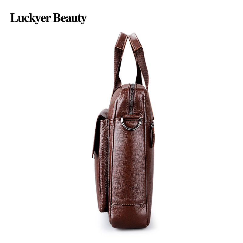 Fashion laptop travel bag Men's genuine leather 4
