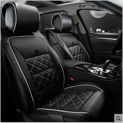 Special Car Seat Covers For BMW X1 2015 2010 Fashion Durable Carbon Fiber Leather Cover 2014 In Automobiles From