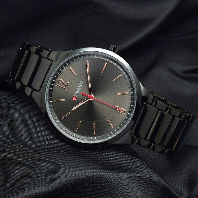CURREN New Men Watch Top Brand Men's Fashion Gold Quartz Wrist Watches Male Stainless Steel Analog Sport Watch Relogio Masculino 5