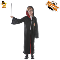 DSPLAY New Kids Harry Potter Costume Cute Black Robe Attached Hat Cartoon Movie Character For Halloween Christmas Gift