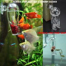 Free shipping 2015 New fish feeder  Acrylic workshop Trouser glass feeders,planarian catcheraquarium shrimp