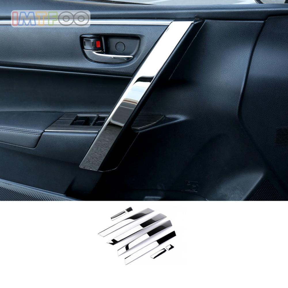 Exterior Accessories Citall 6pcs Car Door Window Center Pillar Plate Molding Cover Trim Black Sticker Fit For Toyota Corolla 2014 2015 2016 2017 2018 Choice Materials