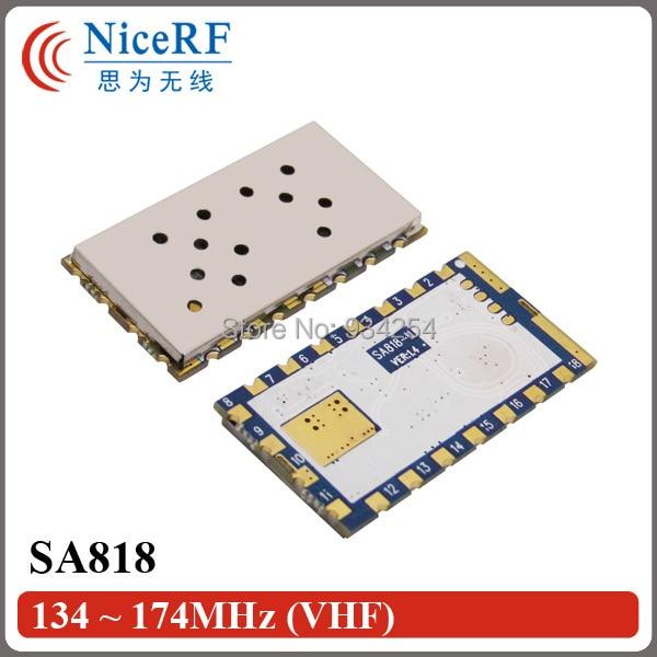 2PCS SA818-V 1W Output Power 30dBm 5km Distance VHF Band 134MHz To 174MHz Half-Duplex Walkie Talkie Transceiver Module