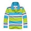 De calidad superior de las muchachas de la ropa para niños de los niños del niño del bebé niño grande t camisa de manga larga camisas de algodón 4 6 8 10 12 14 16 años