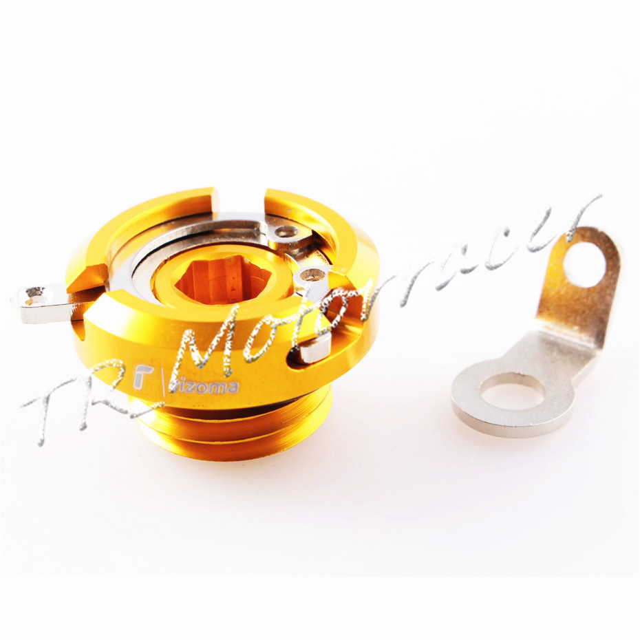 Engine Oil Filler Cap Cover Screw For Honda Ducati Yamaha Triumph Kawasaki ER-6N Versys 650 Z1000 M20*2.5 M20x2.5 Gold motorcycle engine cover camshaft plug crankcase cap oil filler cover screw for honda cbr500r cb500f nc700 nc750 2013 2014