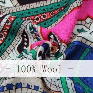 Image 4 - Nueva bufanda de Invierno para mujer marca de lujo Pashmina Cachemira manta de Poncho bufanda envoltura bufanda de lana mujer Bandana, hiyab musulmán chal