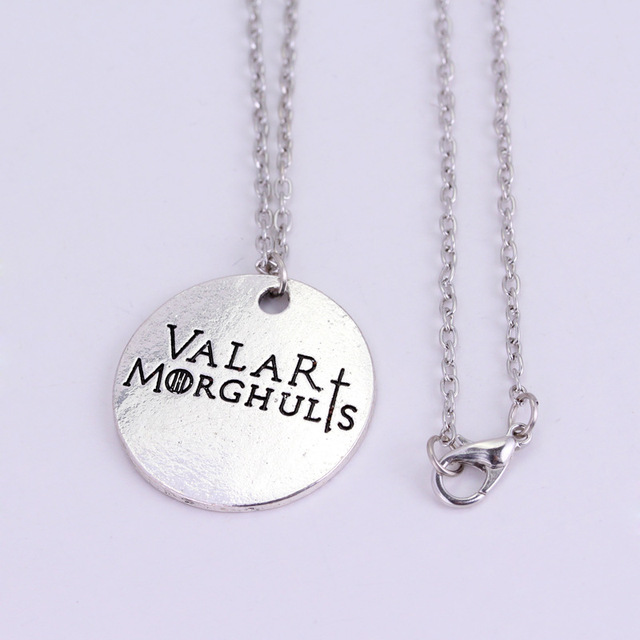 Game of Thrones Winter is Coming Valar Morghulis Pendant Necklace