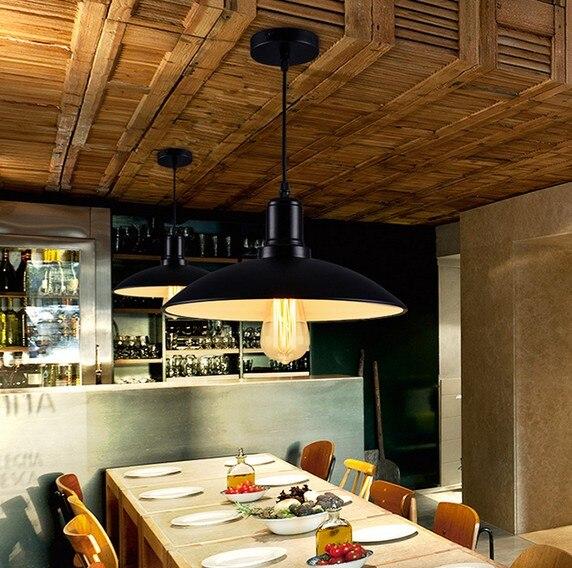 style loft amricain fer art edison pendant light pour salle manger lampe suspendue vintage industrielle clairage lamparas colgantes