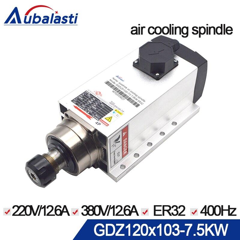 cnc spindle 7.5kw Spindle Motor 4pcs Bearings 380v air cool spindle 300hz er32 motor spindle for cnc milling machine цена