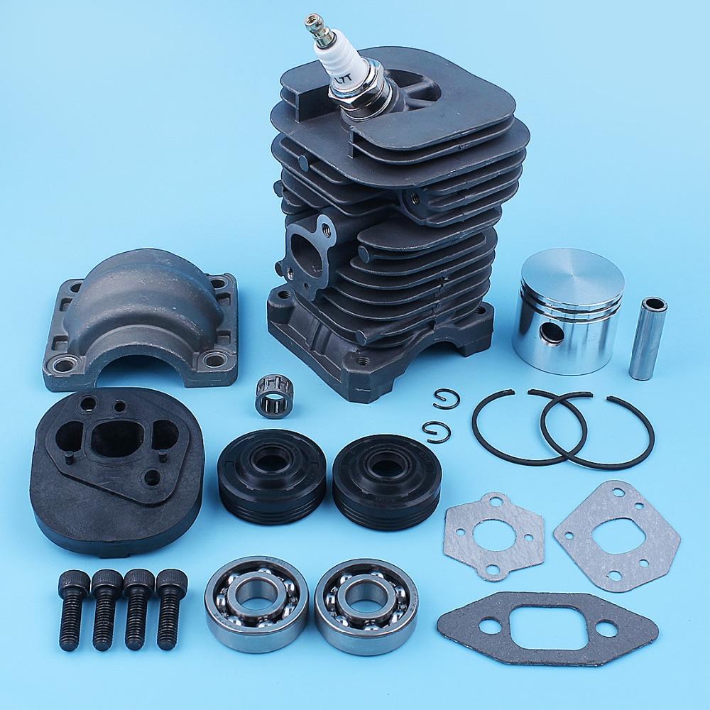 Cylinder Piston Crankshaft Ball Bearing Gasket Kit For Partner Formula 400 5000 350 351 352 370 371 390 401 420 Chainsaw 41mm