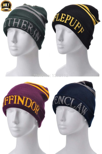 8865dec0c6d Harry Potter 4 college hats Gryffindor cap Slytherin beanies Ravenclaw  skullies winter hat free shipping